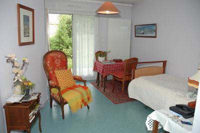 Une chambre de l'APPAD situé Cour du Tissage à Brunstatt
